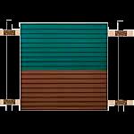 цена на Забор из профнастила горизонтальный