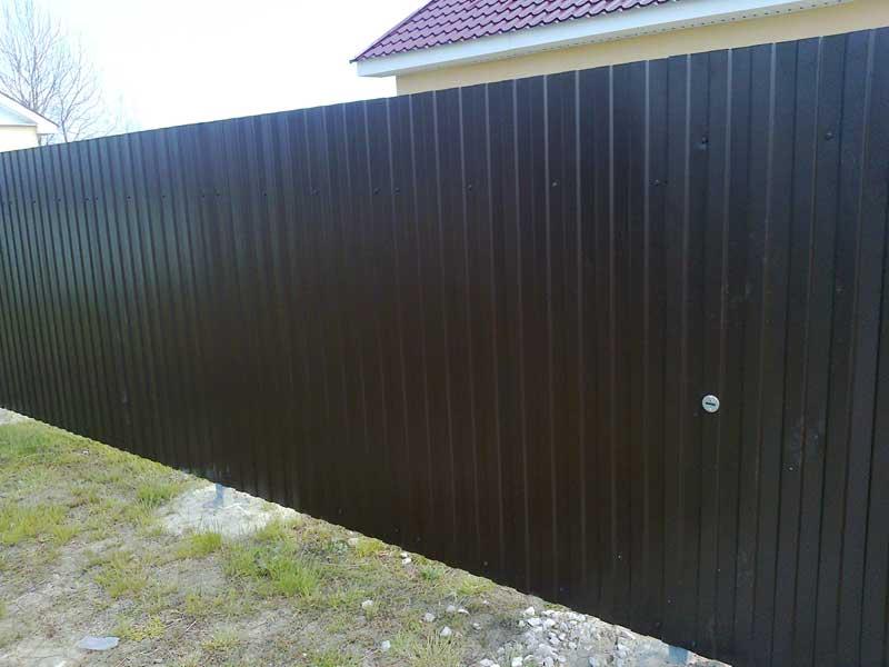 Забор из профнастила с установкой