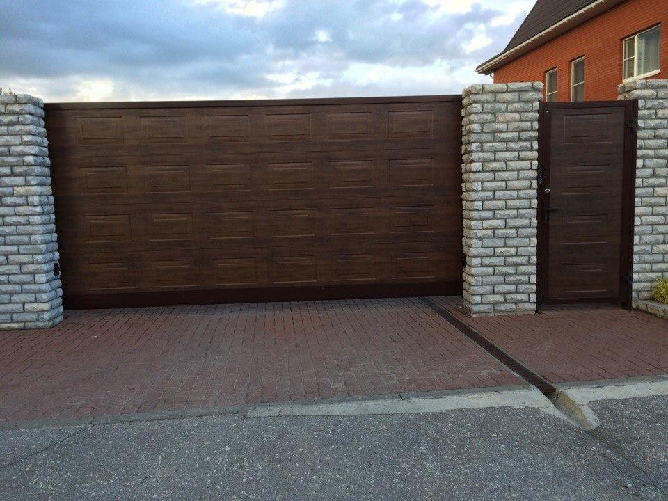 Откатные ворота в Шилово