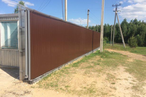Установка откатных ворот в Рязани