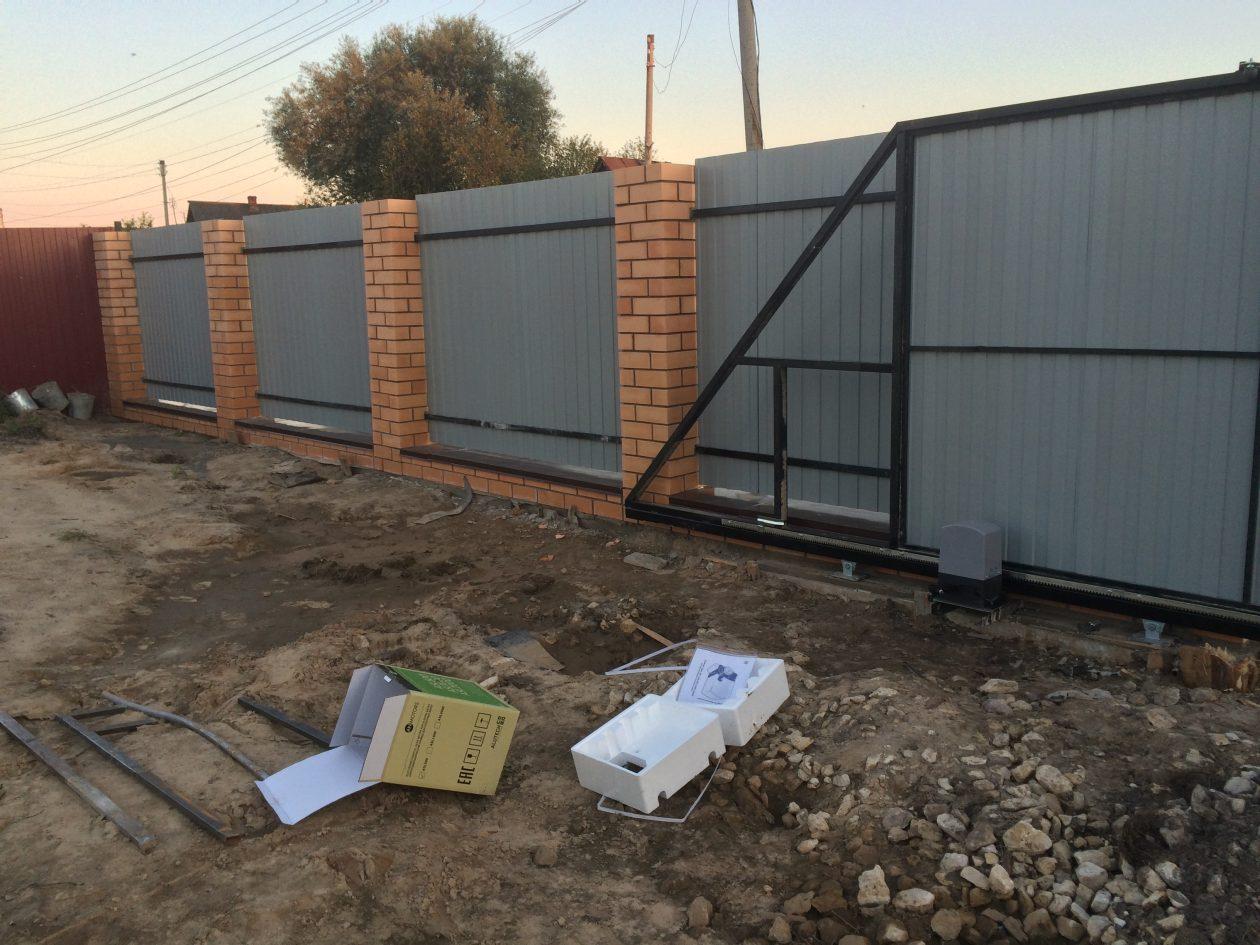 Установка откатных ворот в Касимове
