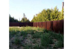 Большой забор из профнастила