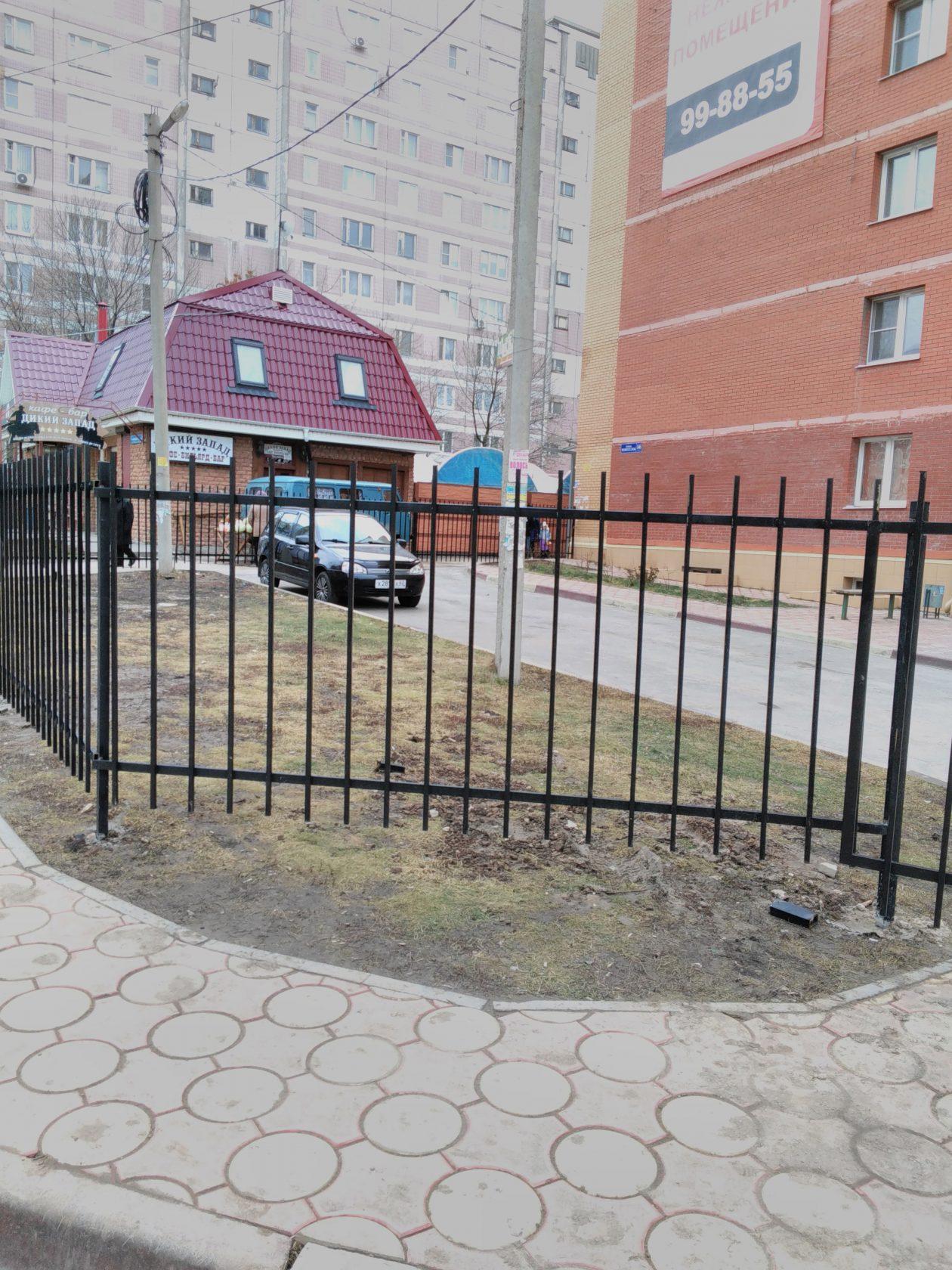 Установка сварного забора г. Рязань, Касимовское шоссе